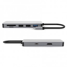 Green Cell - USB-C HDMI HUB Docking Station 4K Windows, MacOS, Linux, DEX, Android - Ports en Hubs - GC061 www.NedRo.nl