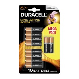 10-Pack Duracell Basic LR6 / AA / R6 / MN 1500 1.5V Alkaline battery