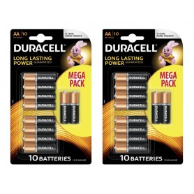 Duracell - 10-Pack Duracell Basic LR6 / AA / R6 / MN 1500 1.5V Alkaline battery - Size AA - BS133-CB