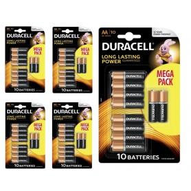 Duracell - 10-Pack Duracell Basic LR6 / AA / R6 / MN 1500 1.5V Alkaline batterij - AA formaat - BS133-CB www.NedRo.nl