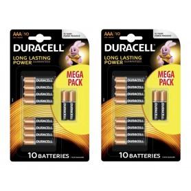 Duracell - 10-Pack Duracell LR03 / AAA / R03 / MN 2400 1.5V alkaline batterij - AAA formaat - BS134-CB www.NedRo.nl