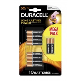 Duracell - 10-Pack Duracell LR03 / AAA / R03 / MN 2400 1.5V alkaline battery - Size AAA - BS134-CB