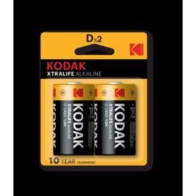 Kodak - Kodak XTRALIFE D/LR20 Alkaline - Size C D 4.5V XL - BS408-CB www.NedRo.us