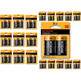Kodak - Kodak XTRALIFE D/LR20 alkaline batterij - C D 4.5V XL formaat - BS408-CB www.NedRo.nl