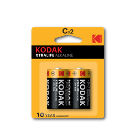 Kodak - Kodak XTRALIFE C/LR14 Alkaline - Size C D 4.5V XL - BS409-CB www.NedRo.us