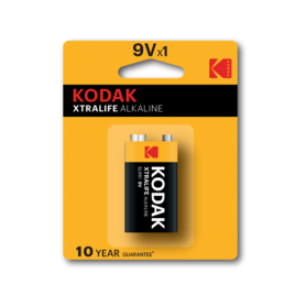 Kodak - Kodak XTRALIFE Alkaline 6LR61 9V batterij - Andere formaten - BS410-CB www.NedRo.nl