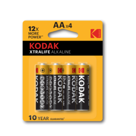 Kodak - Kodak XTRALIFE LR6 / AA / R6 / MN 1500 1.5V Alkaline battery - Blister of 4 pieces - Size AA - BS411-CB