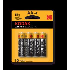 Kodak - Kodak XTRALIFE LR6 / AA / R6 / MN 1500 1.5V Alkaline batterij - AA formaat - BS411-CB www.NedRo.nl