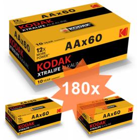 Kodak - 60-Pack Kodak XTRALIFE LR6 / AA / R6 / MN 1500 baterii de 1.5V alcaline - Format AA - BS412-CB www.NedRo.ro