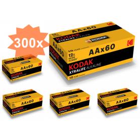 Kodak - 60-Pack Kodak XTRALIFE LR6 / AA / R6 / MN 1500 1.5V Alkaline battery - Size AA - BS412-CB