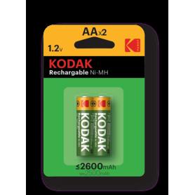Kodak, Kodak AA / Micro / HR06 2600mAh 1.2V oplaadbare batterij, AA formaat, BS414-CB, EtronixCenter.com