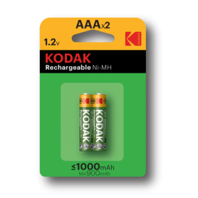 Kodak, Kodak 1000mAh AAA Rechargeable Battery 1.2V NiMH, Size AAA, BS415-CB