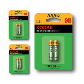 Kodak - Kodak 1000mAh AAA Rechargeable Battery 1.2V NiMH - Size AAA - BS415-CB