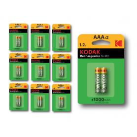 Kodak - Kodak 1000mAh AAA oplaadbare batterijen 1.2V NiMH - AAA formaat - BS415-CB www.NedRo.nl