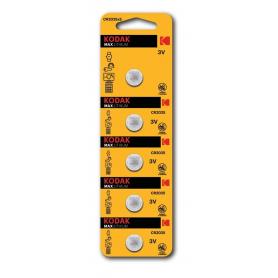 Kodak, Kodak Max CR2025 165mAh 3V Lithium batterij, Knoopcellen, BS417-CB, EtronixCenter.com