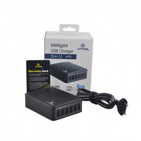 XTAR, Xtar U1 SIX-U USB Charger Hub 6 Ports Independent Channels of 2,4A, Ports and hubs, NK202