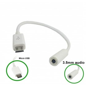 NedRo - Micro USB Male la Audio 3.5mm Female Cablu Adaptor - Adaptoare audio - AL610 www.NedRo.ro