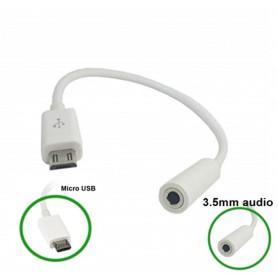 NedRo - Micro USB Male naar Audio 3.5mm Female kabel adapter - Audio adapters - AL610 www.NedRo.nl