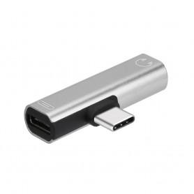 NedRo - USB-C (USB Type C) Male naar Audio 3.5mm Female adapter - Audio adapters - AL612-CB www.NedRo.nl