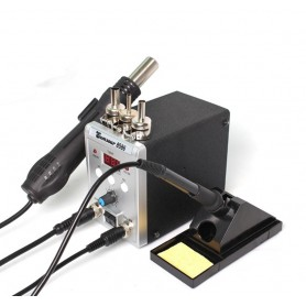 NedRo - 750W 2 in 1 Rework Solder Station Hot Air Gun + Soldering Iron - Soldering guns - AL211-SET1 www.NedRo.us