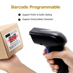 Symcode - Symcode Scaner de coduri de bare 1D / 2D Wireless 2.4GHz - Scanner de coduri de bara - AL215 www.NedRo.ro