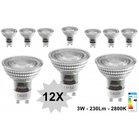 Calex - 3W Calex Warm White COB LED lamp GU10 240V 230lm 2800K - 3 Pack - GU10 LED - CA0161-CB