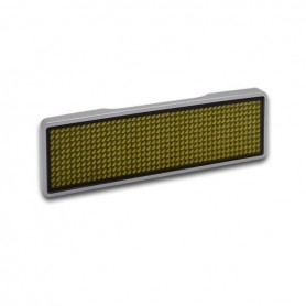 Sertronics - Sertronics placuta LED - Name Tag 9.3x3cm margine argintie - LED gadgets - ON6295-CB www.NedRo.ro