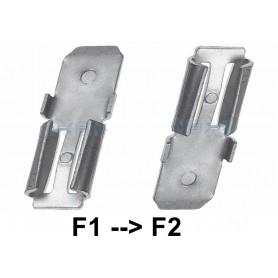 NedRo, 2x Klem adapter Terminal voor loodaccu - van 4.74mm naar 6.35mm (F1 naar F2), Batterijen accessories, NK439, EtronixCe...