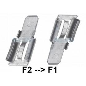NedRo, 2x Klem adapter Terminal voor loodaccu - van 6.35mm naar 4.74mm (F2 naar F1), Batterijen accessories, NK440, EtronixCe...