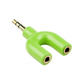 NedRo - 3.5mm Audio Jack Male to 2x Audio Female 3.5mm Y Splitter - Audio adapters - AL216-CB www.NedRo.us