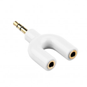 Oem - 3.5mm Audio Jack Male to 2x Audio Female 3.5mm Y Splitter - Audio adapters - AL216-CB