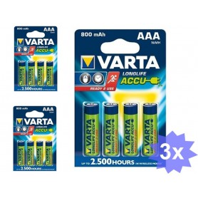 Varta - Varta Oplaadbare batterij AAA HR3 800mAh - AAA formaat - ON1331-CB www.NedRo.nl