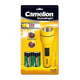 Camelion, Camelion flashlight including 2x D R20 batteries, Flashlights, BS347-CB