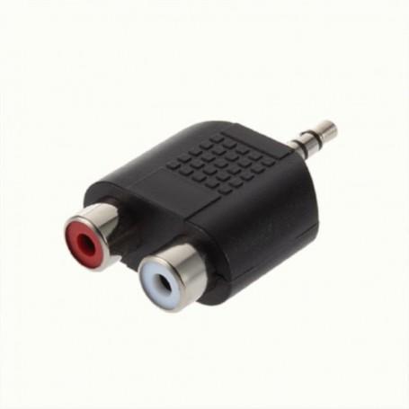 NedRo - Tulp Jack 3.5mm Adapter Converter Stereo 2x Composite 6043 - Audio adapters - 6043 www.NedRo.nl
