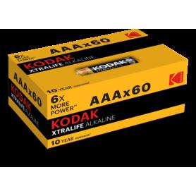 60-Pack Kodak XTRALIFE alkaline AAA/LR03 1.5V