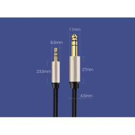 UGREEN - UGREEN 3.5mm Male to 6.35mm Male Jack Audio Cable - Audio cables - UG425-CB