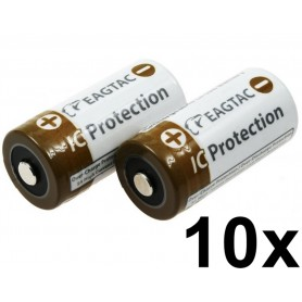 EagTac - EagleTac 16340/RCR123A 750mAh 1.5A (Protected) - Other formats - NK071-CB www.NedRo.us