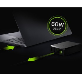 Green Cell - Power Source 75W 4-port charger USB-C PD with ultrabook charging - Ac charger - GC080