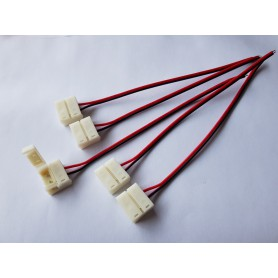 NedRo - 10mm 2 Pin RGB Connector Cable for LED strip IP65 (5pcs) - LED connectors - LSCC29 www.NedRo.us