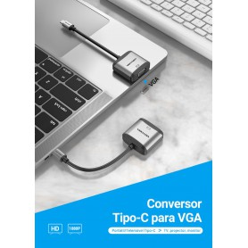 Vention - USB-C to VGA Adapter with Full HD output 1080P - USB adapters - V108