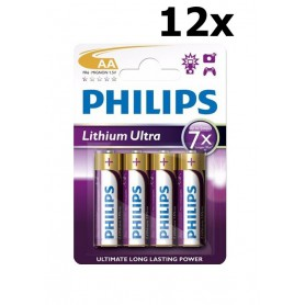 PHILIPS - Philips Ultra FR6 AA 3.000 mAh 1.5 V Battery Lithium - Size AA - BS428-CB