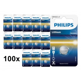 PHILIPS - Philips CR1632 3V lithium button cell battery - Button cells - BS026-CB www.NedRo.us