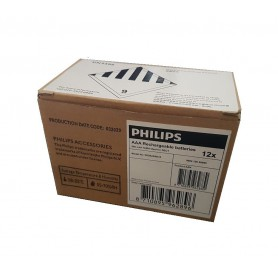 PHILIPS - Philips Rechargable Battery AAA HR03 800mAh - Size AAA - BS451-CB
