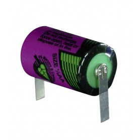 Tadiran - Battery Lithium Tadiran SL-750 / 1/2 AA 3.6V 1100mAh with U-solder lip - Other formats - NK464 www.NedRo.us