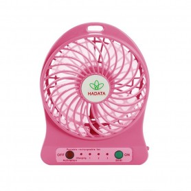 NedRo - Portable rechargeable LED light fan with 18650 battery and charging cable - Computer gadgets - AL1092-CB www.NedRo.us