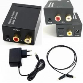 Digital to Analog Audio Converter box with with 5V EU power supply