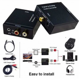 Oem - Digital to Analog Audio Converter box with with 5V EU power supply - Audio adapters - AL971