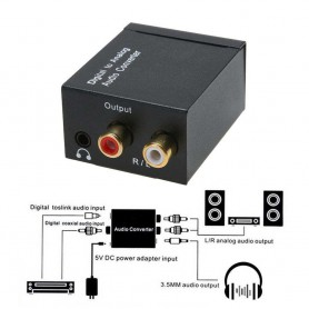 NedRo - Digital to Analog Audio Converter box with with 5V EU power supply - Audio adapters - AL971 www.NedRo.us
