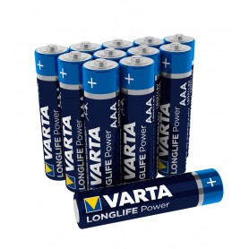 Varta, AAA LR03 Varta Longlife Power alkaline battery 1.5V - 12 Pieces / Blister, Size AAA, BS460-CB