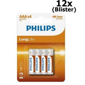 PHILIPS - AAA R3 Philips LongLife Zinc Alkaline - Size AAA - BS406-CB